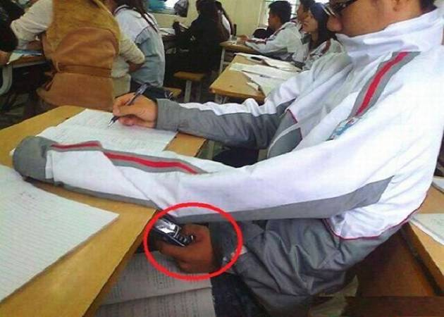 funny students cheating