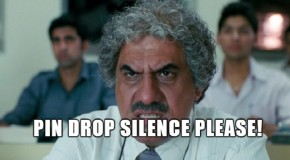 best indian teacher silence