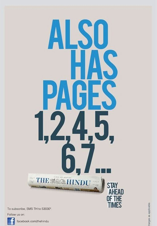 The hindu ad indian ads