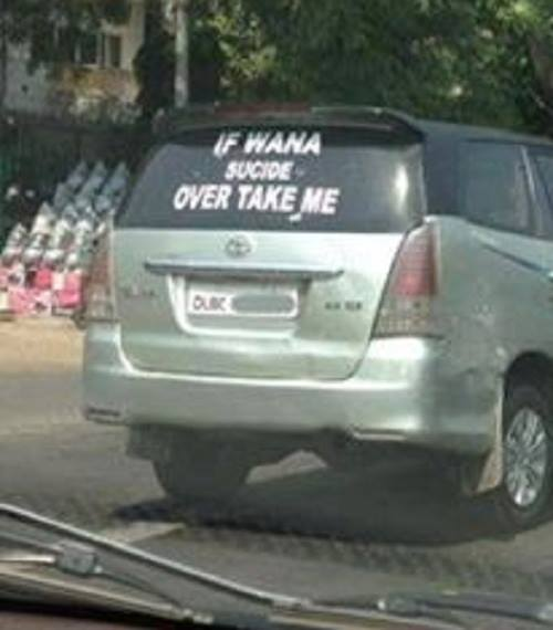Funny Indian Bumper Stickers