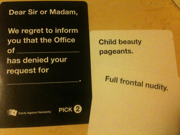 Image of: Combos 17 This One Went Too Far Lol The Awesome Daily 20 Highly Offensive Cards Against Humanity Draws Lol