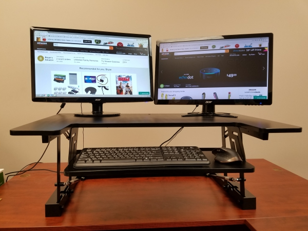 Get The Best Convertible Sit Stand Desk & Adjustable Workstation With Extra  Large Surface