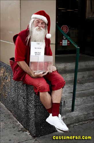 funny santa claus card picture