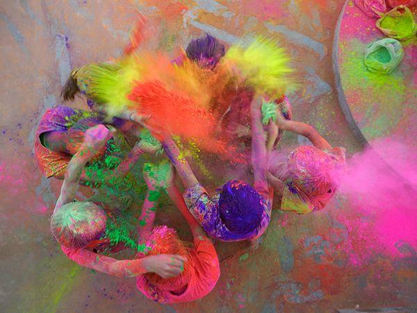 holi spring festival color india
