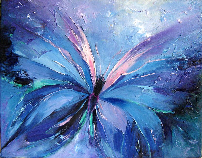 butterfly image abstract painting