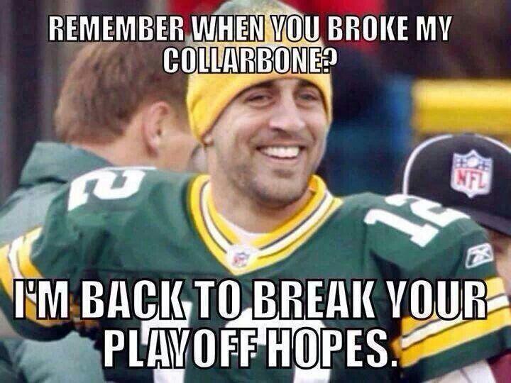Aaron Rodgers Broken Collarbone Meme