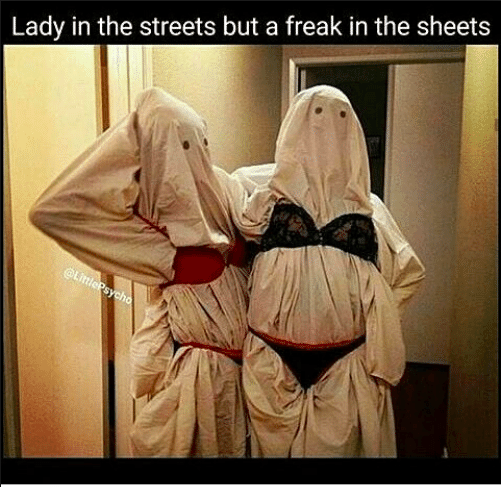 Freak In Sheets Meme