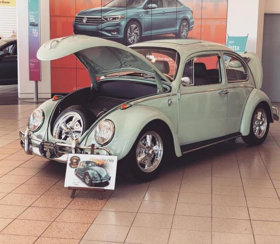 airkooled kustoms and hiley vw of huntsville announce display of 1965 vw beetle
