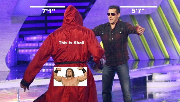 Khali with Salman Khan