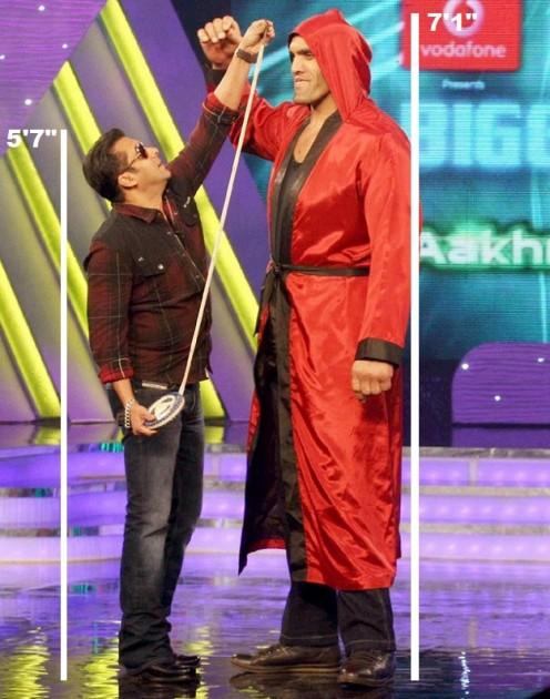 Salman shorter than Khali