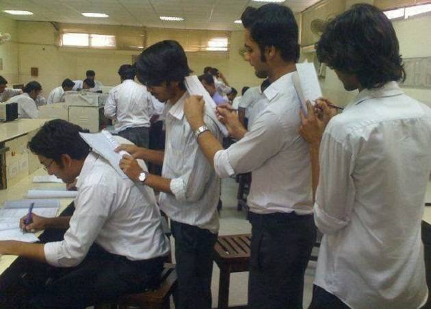 students copying