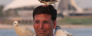akshay welcome doves on head