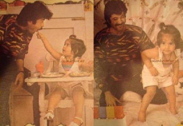 Anil Kapoor with daughter