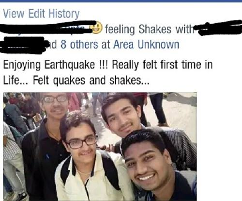 earthquakeselfie