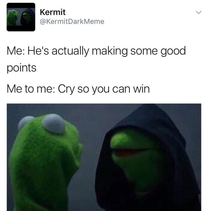 evil kermit memes