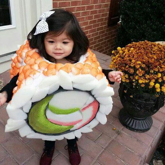 kids in food costumes