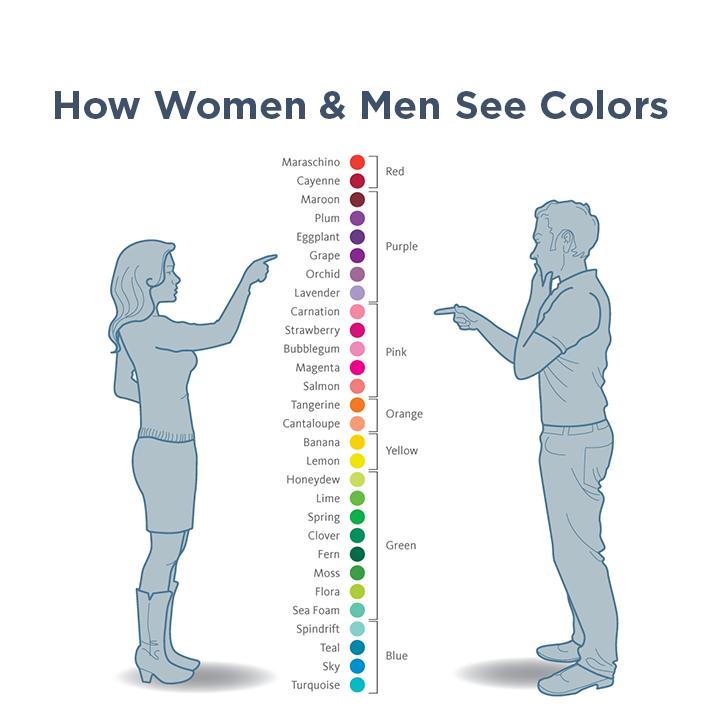पुरुषों और महिलाओं के बीच अंतर