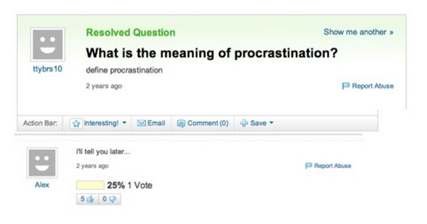 funny Yahoo Questions & Answers