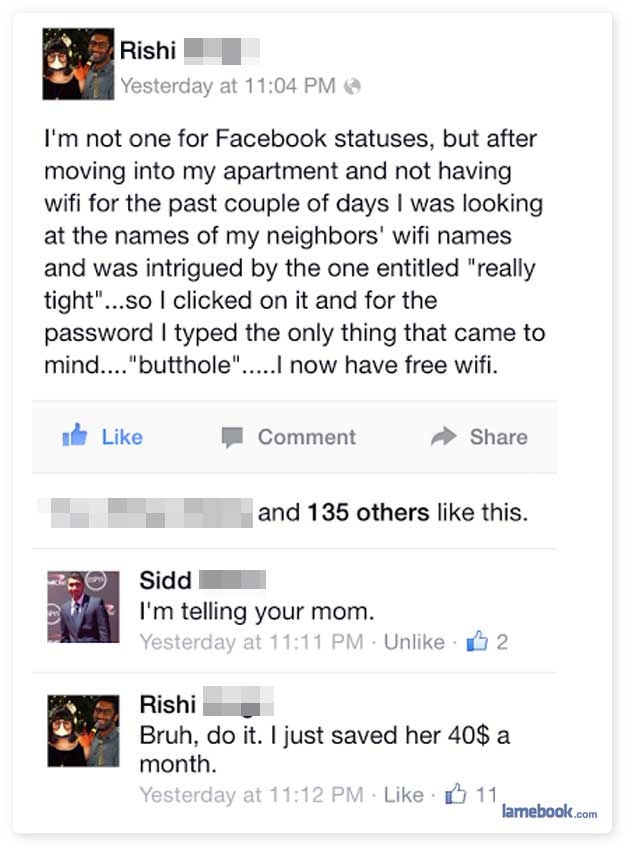 Amusing Facebook Interactions