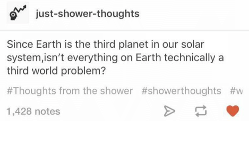 Just Shower Thoughts