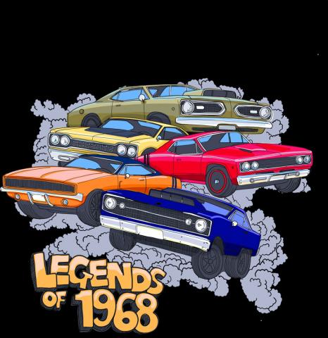 drag racing fans feel the thrill again with legends of 1968 t shirt and merchand