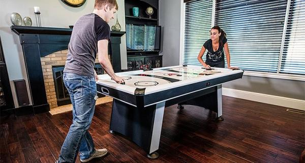 find the best beginner amp advanced air hockey table with this brunswick model r