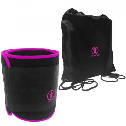 just fitter introduces new pink version of their premium waist trimmer belt