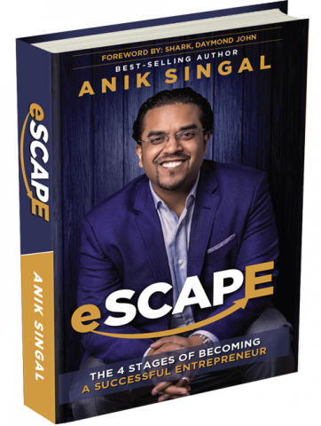 get anik singal s escape the four stages of becoming a successful entrepreneur f