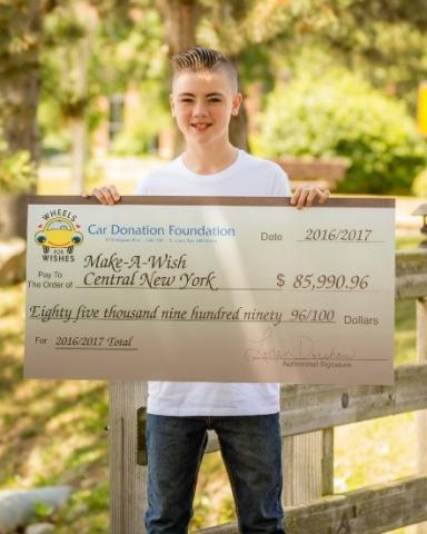 wheels for wishes car donation program honored by make a wish central new york