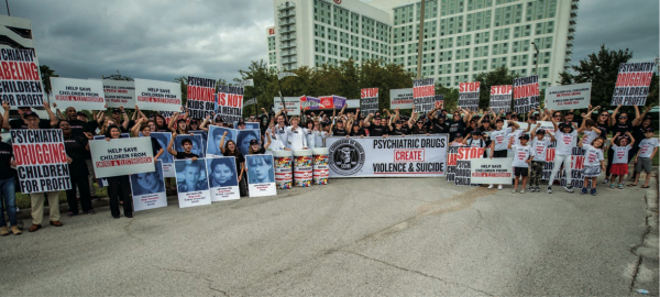 the citizens commission on human rights held a demonstration in orlando at the p