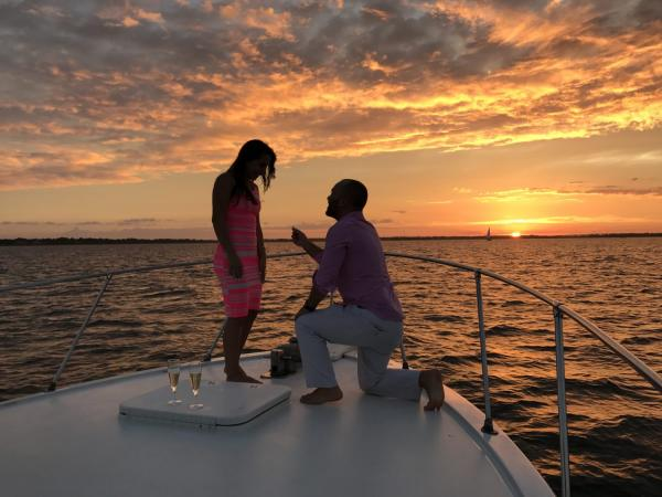check out the beautiful charleston sc sunset in style with picturesque harbor bo