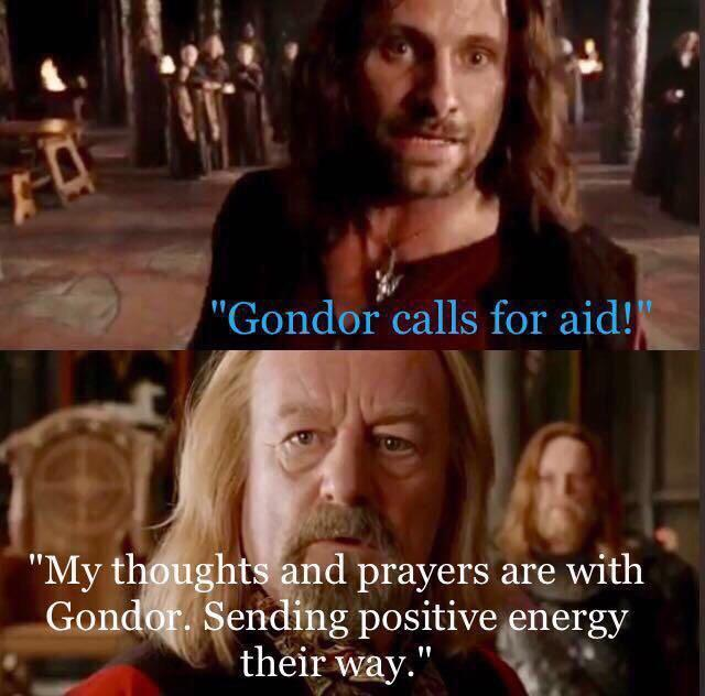 Sending Thoughts and Prayers meme