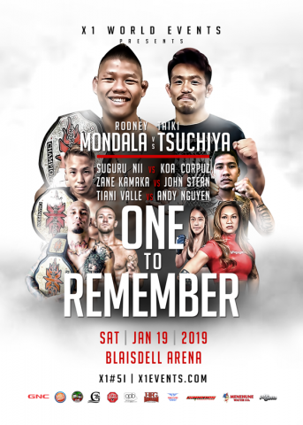 x1 world events mma presents fight card x1 51 one to remember hawaii vs japan