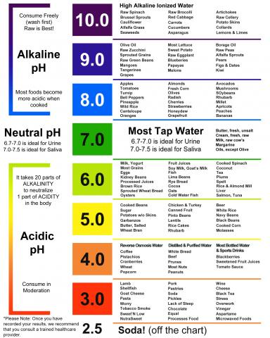 new blog post from just fitter discusses food choices for a neutral body ph