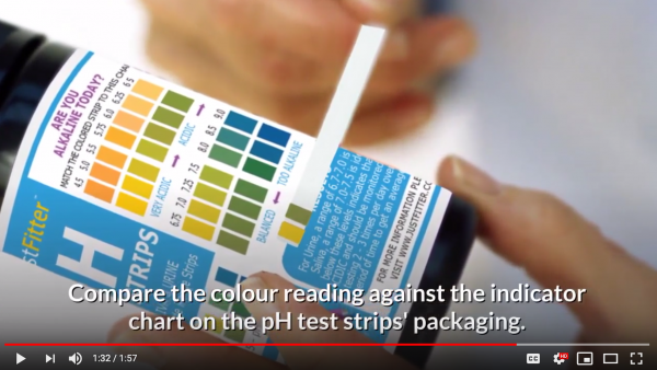 new faq video from just fitter helps users read ph test strips