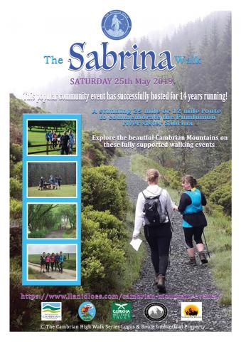 cambrian mountains walking event organization announces sarn sabrina walk to ben