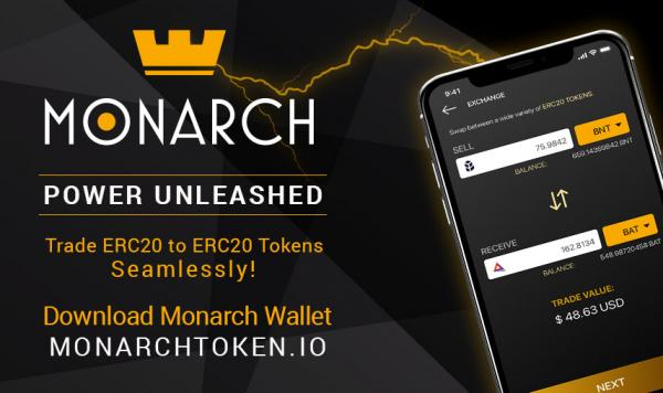 now trade all erc 20 tokens within the monarch cryptocurrency wallet