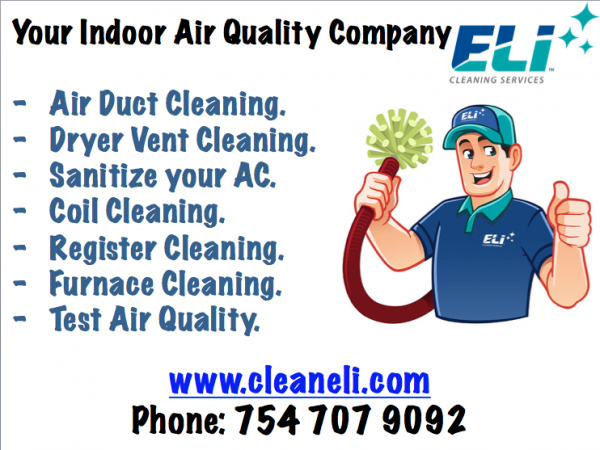 eli cleaning service launch sanitizing ac air condition service in hollywood fl
