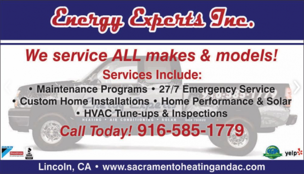 energy experts launched ac maintenance service plan for orangevale lincoln ca