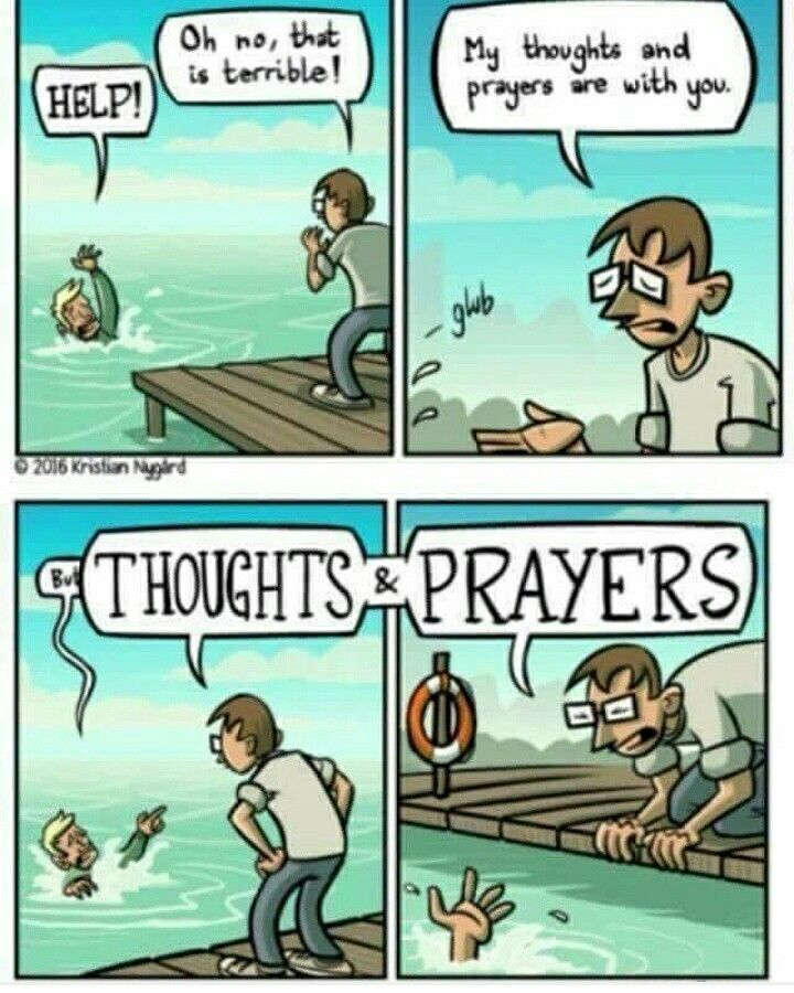 funny thoughts and prayers meme