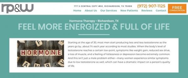 get the bet richardson tx chronic pain relief amp hormone replacement therapy