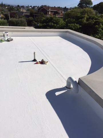 cold poured liquid seamless waterproofing for wellington industrial buildings