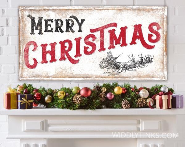 Widdlytinks Introduces New Christmas Farmhouse Decor Wall Art