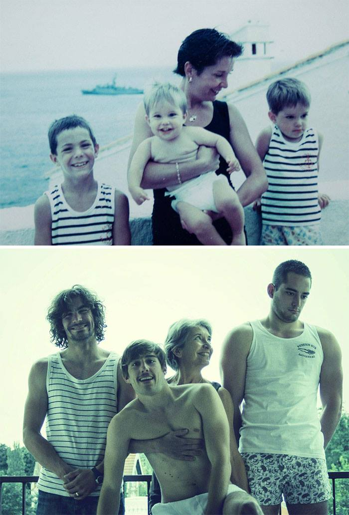 before and after pictures of families